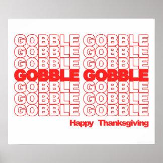 Gobble Gobble Retro Thanksgiving Poster