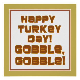 GOBBLE, GOBBLE Text Design Poster