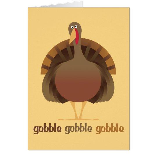 Gobble Gobble Thanksgiving card