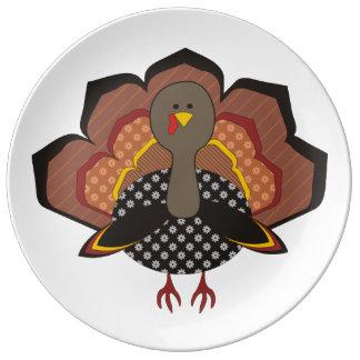 Gobble Gobble Thanksgiving Porcelain Plate