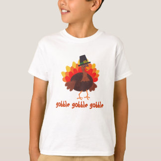Gobble Gobble - Thanksgiving Turkey - T-shirt