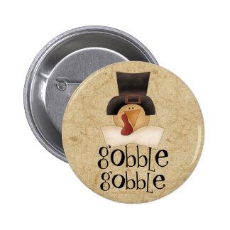 Gobble Gobble Turkey Pinback Button