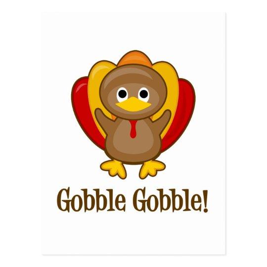 Gobble Gobble! Turkey Postcard