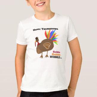 Gobble Gobble Wobble Thanksgiving Turkey T-Shirt