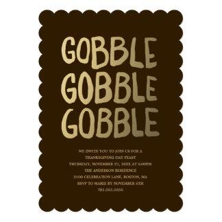 Gobble Thanksgiving Dinner Invitation