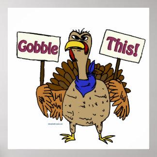 Gobble This - Talking Turkey Poster
