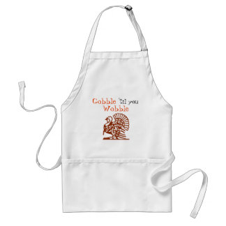Gobble 'til you Wobble Thanksgiving Apron