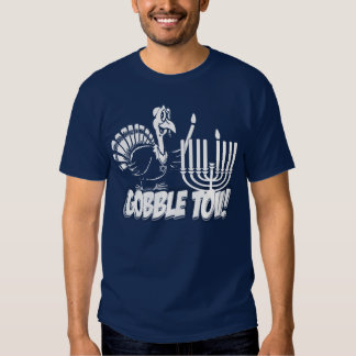 Gobble Tov Thanksgivukkah Turkey Monochrome Shirt