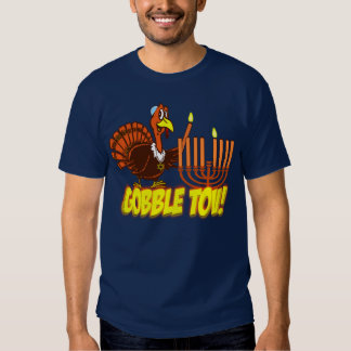 Gobble Tov Thanksgivukkah Turkey Shirt