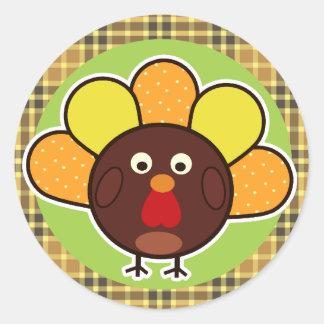 GOBBLE? Turkey Classic Round Sticker