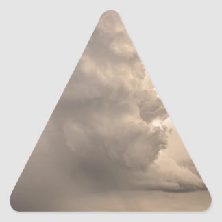 Gobbled Up By a Monster Storm Triangle Sticker