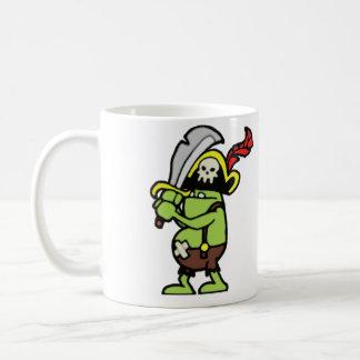 Gobbler del pirata del Doodle del mago 101 Taza De Café