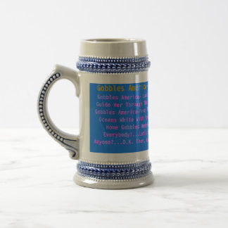 Gobbles America_Oceans White With Foam Beer Stein