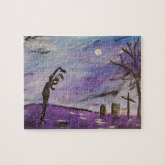 Gobblin in the Graveyard Jigsaw Puzzle