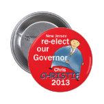 Gobernador 2013 de Christie Pins