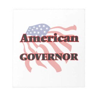 Gobernador americano blocs de papel