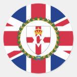 Gobernador bandera de Irlanda del Norte, Reino Etiquetas Redondas