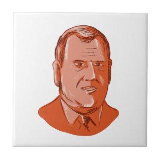 Gobernador New Jersey de Chris Christie Azulejo Cuadrado Pequeño