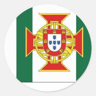 Gobernador portugués de la colonia, bandera de pegatina redonda