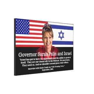 Gobernador Sarah Palin y Israel Lona Envuelta Para Galerías