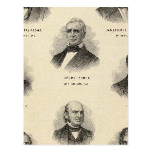 Gobernadores de los retratos de Wisconsin NP Talma Postales