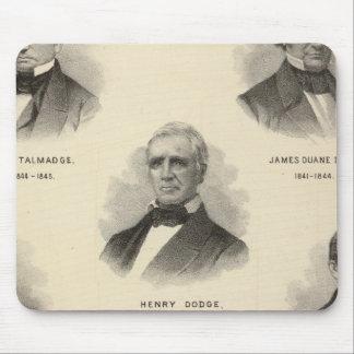 Gobernadores de los retratos de Wisconsin NP Talma Alfombrillas De Raton