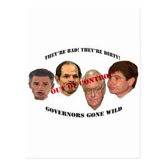 gobernadores idos salvajes postales