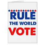 Gobierne el voto del mundo felicitación