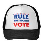 Gobierne el voto del mundo gorros bordados