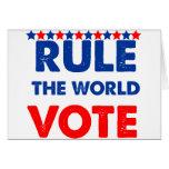 Gobierne el voto del mundo tarjeton