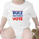 Gobierne el voto del mundo traje de bebé