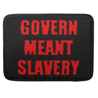 Gobierne la esclavitud significada funda para macbook pro
