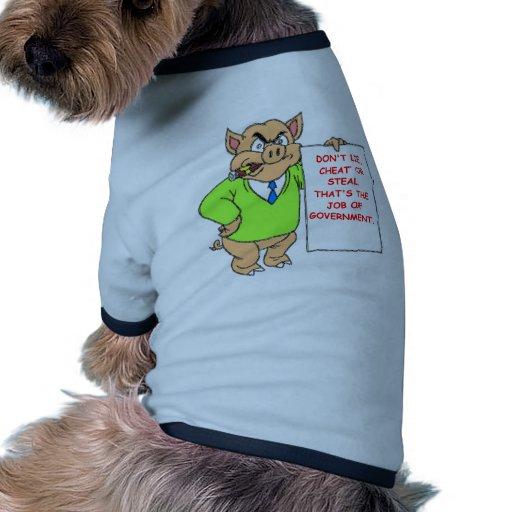 gobierno camisa de mascota