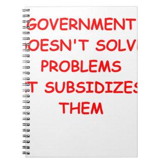 gobierno libreta espiral