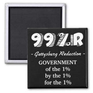 gobierno de la dirección de 99%r Gettysburg del 1% Imán Cuadrado