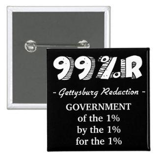 Gobierno de la dirección de Gettysburg del 1% para Pin Cuadrado