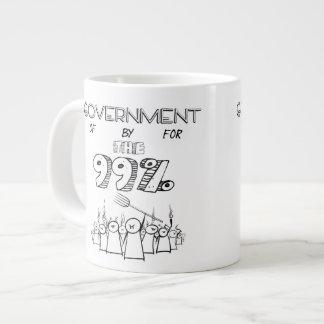 Gobierno de por y para el 99% tazas jumbo