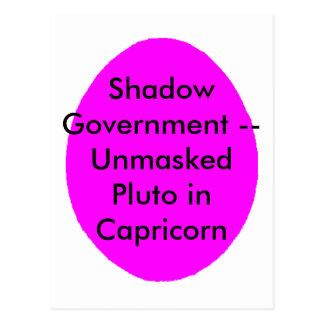 Gobierno de sombra -- Plutón desenmascarado en Postal