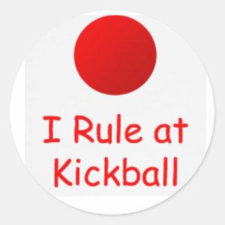 gobierno en el pegatina del kickball