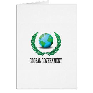 gobierno global tarjeta de felicitación