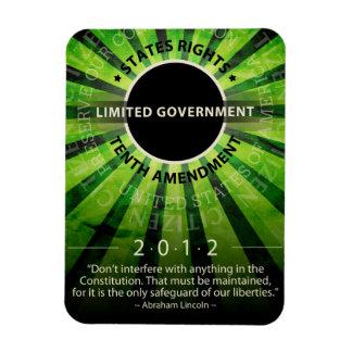 Gobierno limitado imán de vinilo