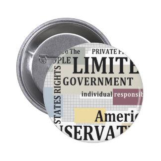 Gobierno limitado pin redondo de 2 pulgadas