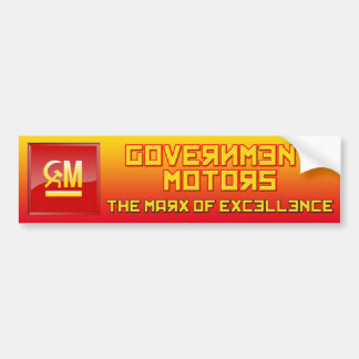 Gobierno Motor-Marx de la excelencia BumperSticker Pegatina Para Auto