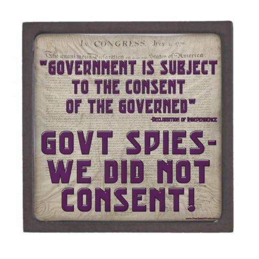 Gobierno no consentimos caja de recuerdo de calidad