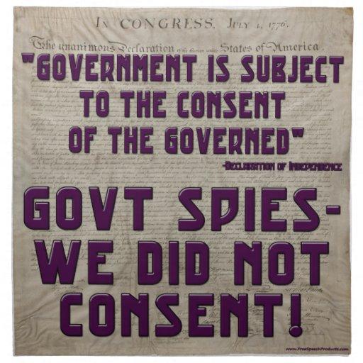 Gobierno no consentimos servilleta de papel