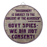 Gobierno no consentimos tablero dardos