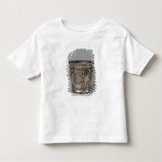 Goblet embossed with skeletons holding masks toddler t-shirt