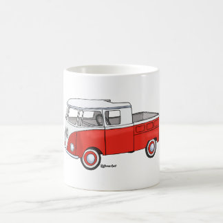 Goblet with pickup truck red coffee mug