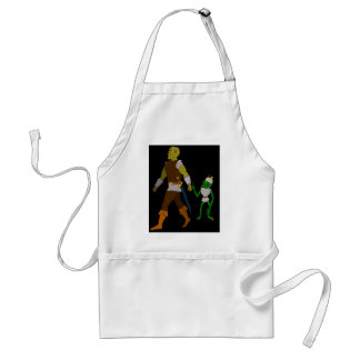 Goblin and Orc (black or white background) Adult Apron