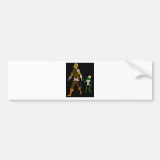 Goblin and Orc black or white background Bumper Stickers